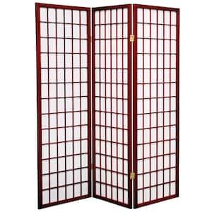 5 ft. Rosewood 3-Panel Room Divider