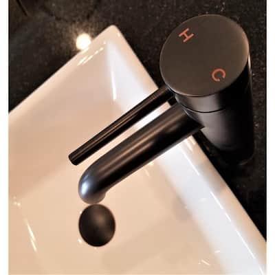 Single Hole Single-Handle Vessel Bathroom Faucet in Oil Rubbed Bronze