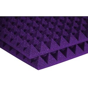 Auralex Studiofoam Pyramid Panels - 2 ft. W x 2 ft. L x 2 in. H - Purple (Half-Pack: 12 Panels per Box)