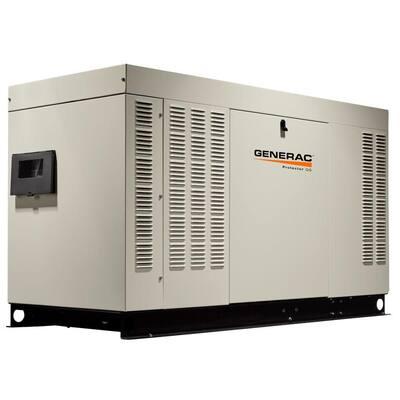 38,000-Watt 120-Volt/240-Volt Liquid Cooled Standby Generator Single Phase with Aluminum Enclosure