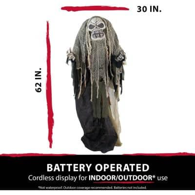 62 in. Touch Activated Animatronic Reaper
