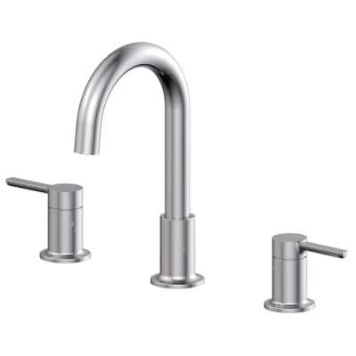Metro Collection 8 in. Widespread 2-Handle Bathroom Faucet with 50/50 Pop-up in Chrome