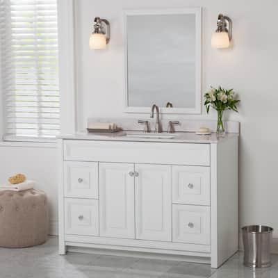 Brinkhill 48 in. W x 34 in. H x 22 in. D Bath Vanity Cabinet Only in White