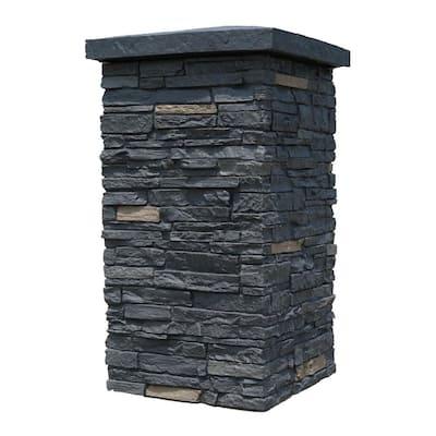 Slatestone Onyx 30 in. x 16 in. Faux Polyurethane Stone Column Wrap (4-Piece)