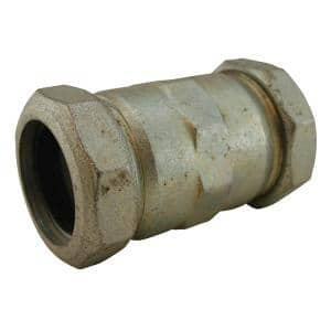 1-1/2 in. IPS Malleable Iron Compression Coupling, Long Pattern 4-5/16 in. Body Length for IPS & Schedule 40 Pipe Repair