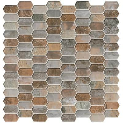Earth and Sea Picket 12 in. x 12 in. x 8 mm Glass Mesh-Mounted Mosaic Tile (10 sq. ft. / case)