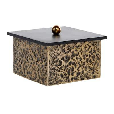 Venus Williams Collection Gold Metal Modern Decorative Box