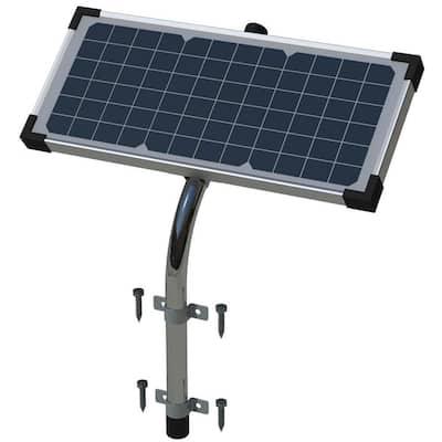 10-Watt Premium Monocrystalline Solar Panel Kit for Automatic Gate Openers