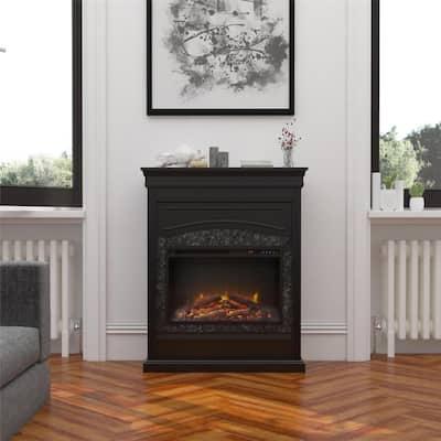 Robinside 40.5 in. Electric Freestanding Fireplace in Black