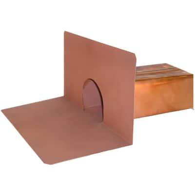 3 in. W x 2 in. H x 10 in. L Copper Scupper Drain
