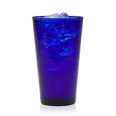 Cobalt 8-Piece Flare Glass Tumbler Set