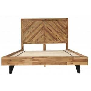 Shelly Natural King Bed with Slat Headboard