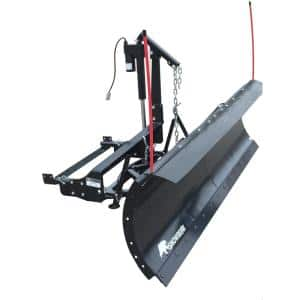Winter Wolf 82 in. x 19 in. Snow Plow with Custom Mount and Actuator Lift System