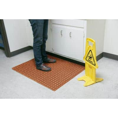 Paw-Grip Red 34 in. x 5 ft. Nitrile Non-Slip Rubber Mat