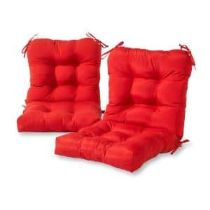 Solid Salsa 21 in. x 42 in. Outdoor Dining Chair Cushion (2-Pack)