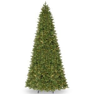 14 ft. Ridgewood Spruce Slim Artificial Christmas Tree with Clear Lights