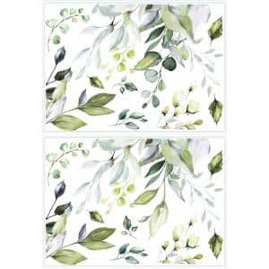 Hanging Watercolor Leaves Peel and Stick Giant Wall Decals