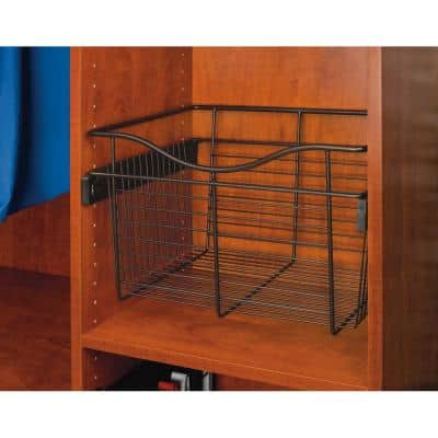 24 in. x 7 in. Oil Rubbed Bronze Pull-Out Basket