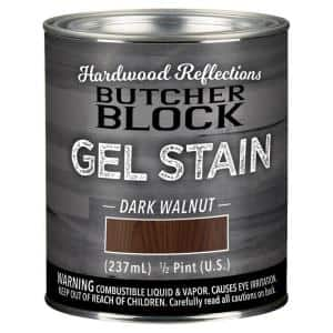 1/2-Pint Dark Walnut Oil-Based Satin Interior Butcher Block Wood Gel Stain