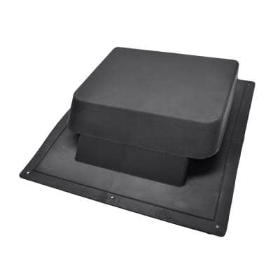 37 sq. in. NFA Black Resin High Impact Super Low-Profile Slant Back Roof Louver Static Vent (Carton of 10)