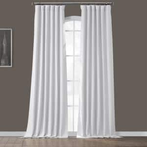 Chalk Off White Rod Pocket Blackout Curtain - 50 in. W x 84 in. L