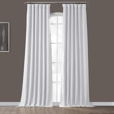 Chalk Off White Rod Pocket Blackout Curtain - 50 in. W x 84 in. L