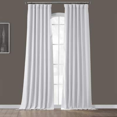 Chalk Off White Rod Pocket Blackout Curtain - 50 in. W x 96 in. L