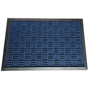 Wellington Carpet Doormat Blue 18 in. x 30 in. Rubber Carpet Mat