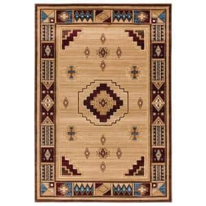 United Weavers United Weavers Cottage Pine Border Beige 1 Ft 10 In X 2 Ft 8 In Accent Rug 2055 41026 24 The Home Depot