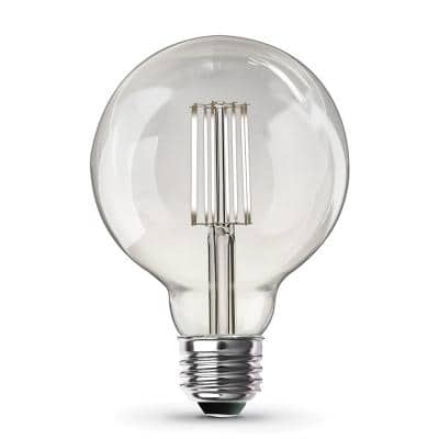 60-Watt Equivalent G30 Dimmable Cage Filament Clear Glass E26 Vintage Edison LED Light Bulb, Daylight