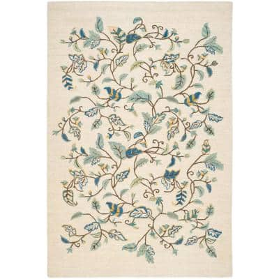 Martha Stewart Colonial Blue 8 ft. x 10 ft. Floral Area Rug