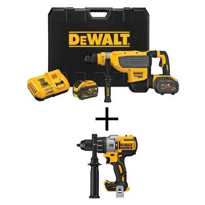 FLEXVOLT 60-Volt MAX Brushless 1-7/8 in. SDS MAX Rotary Hammer, (2) FLEXVOLT 9.0Ah Batteries & Hammer Drill/Driver