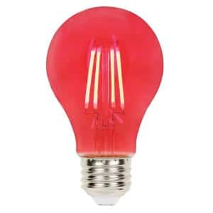 40-Watt Equivalent A19 Dimmable Red Filament LED Light Bulb