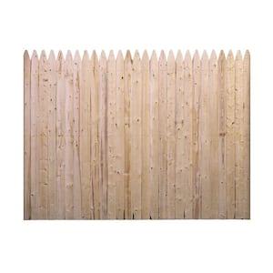 6 ft. H x 8 ft. W Flat Rough Sawn Stockade Fence Panel