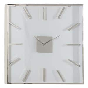 White Stainless Steel Wall Clock