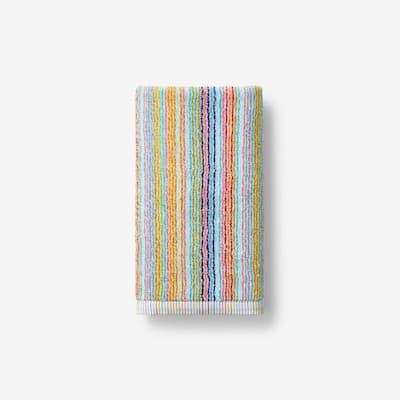 Stripe Multicolored Cotton Hand Towel