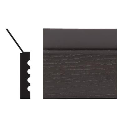 2149 7/16 in. x 2 in. x 84 in. PVC Brown Garage Door Stop Moulding