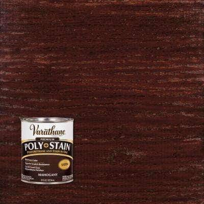 1 qt. Mahogany Satin Oil-Based Interior Stain and Polyurethane