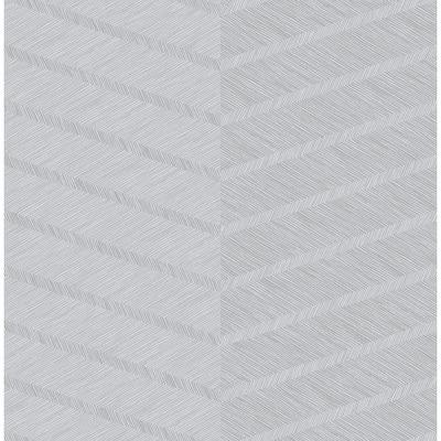 Aspen Grey Chevron Grey Wallpaper Sample