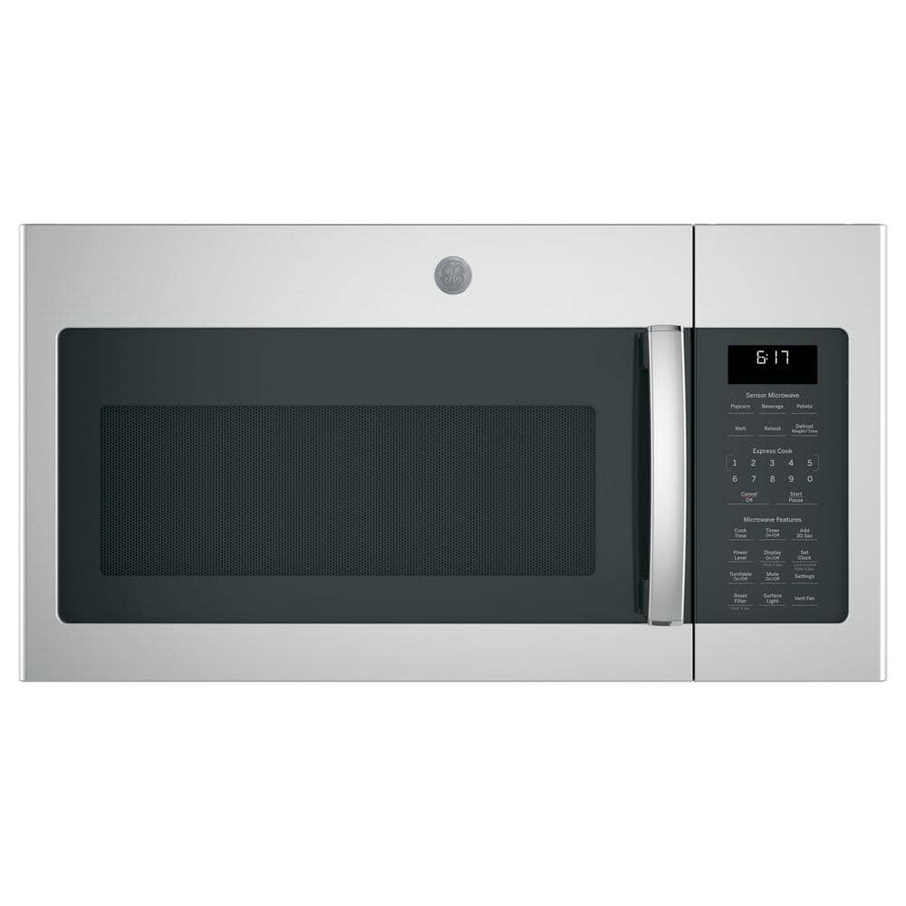 ge 1 7 cu ft over the range microwave in fingerprint resistant stainless steel with sensor cooking jvm6175ykfs the home depot