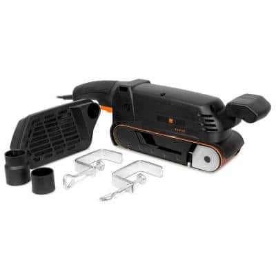 7-Amp Corded 3 in. x 21 in. Variable Speed Combination Handheld and Benchtop Belt Sander