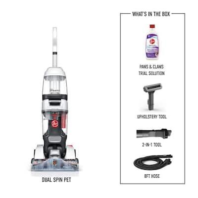 Dual Spin Pet Upright Carpet Cleaner Machine, Carpet Shampooer