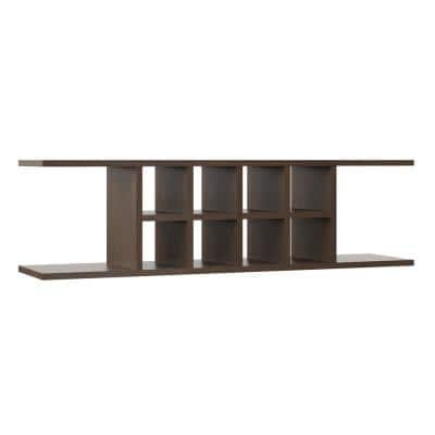 Shaker Partially Assembled 48x13.37x11.25 in. Wall Flex Shelving in Brindle