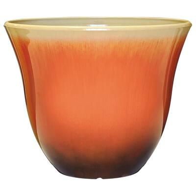 Honeysuckle 15 in. Tequila Sunrise Resin Planter