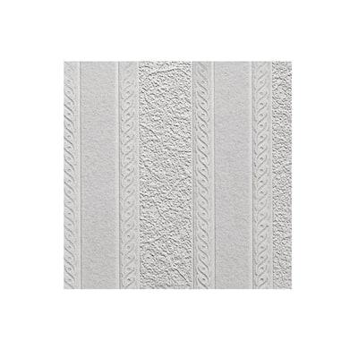 Blarney Marble Stripe Paintable Textured Vinyl White & Off-White Wallpaper Sample
