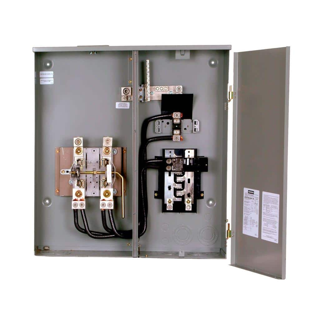 Siemens 400 Amp 8-Space 16-Circuit Combination Meter Socket Load  Center-MC0816B1400RLTM - The Home Depot | Ge Meter And Panel Wiring Diagram |  | The Home Depot