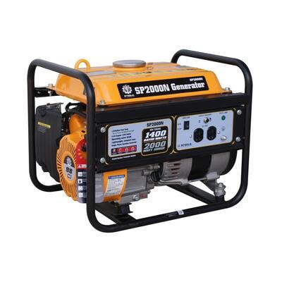 1,400-Watt Recoil Start Gasoline Powered Portable Generator