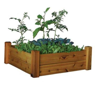 34 in. x 34 in. x 13 in. Safe Finish Raised Garden Bed
