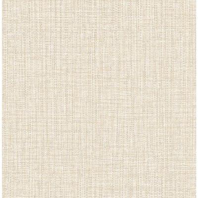 Rattan Beige Woven Beige Wallpaper Sample