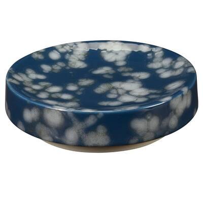 Indigo Blossoms Soap Dish in Blue